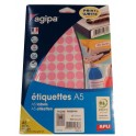 POCHETTE PASTILLES ADHESIVES DE COULEUR ROSE DE DIAM. 15mm