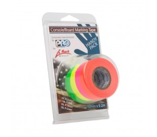 "American tape  FLUO MINI - LOT 4 COULEURS 1/2"" (12mm x 9,2m)"