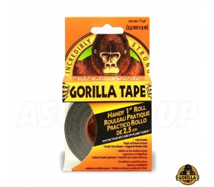 "GORILLA TAPE BLACK 1""  ""TO GO"" 25mm 30Ft"