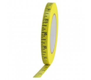 GAFFER TAPE MEASURE PIED /PRO MEASURE TAPE (imperial) 1/2X50yd Yellow